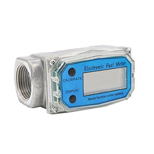 MagiDeal Digital Benzin Diesel Heizöl Turbine Durchflussmesser Durchfluss Zähler 10-100L/Min -