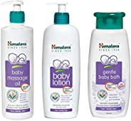 Himalaya Baby Massage Oil (500ml), Herbals Lotion (400ml) and Gentle Bath (400ml) Combo