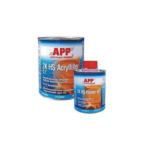 Preisvergleich Produktbild APP 2K HS ACRYLFILLER 5:1 FÜLLER + HÄRTER KURZ WEISS SET 4.8 Liter 020410S