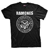 Ramones T-Shirt Logo Band Classico Sigillo Seal Maglia Maglietta Punk Rock - Ufficiale Originale (Small)