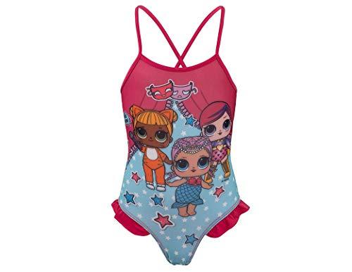 L.O.L. Surprise! | Costume da Bagno per Bambina Premium | Splendidamente Disegnato | (Costume da Bagno Fuschia, 6 Years)