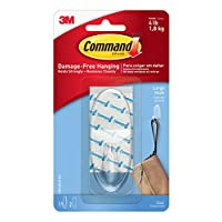 17093CLRES LARGE CLEAR HOOK W/CLEAR STRiP