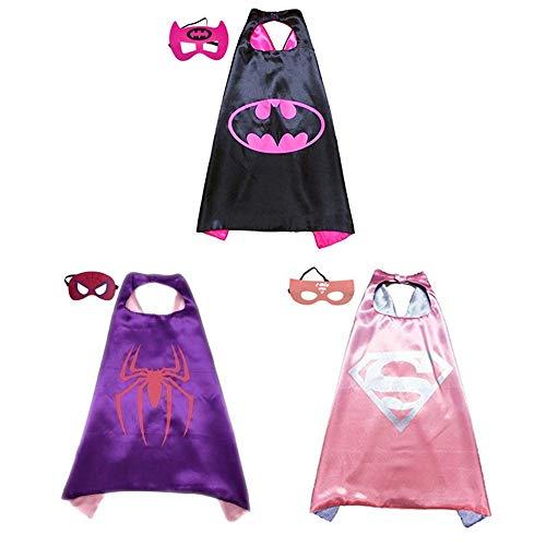 (BJ-SHOP Superhelden Umhang Maske, Superhelden Kostüm Kinder die Mantel Jungen und Mädchen Superheld Spielwaren für Geburtstag und Kinderkostüm Partei zurechtmachen)