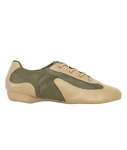 Só Dança DK30 Dance Sneaker Scarpe da Ballo Sintetico/Mesh Hip Lindy Swing Trainer Scarpe Professionista Shuffle Dance suola intera PU caramel/gold