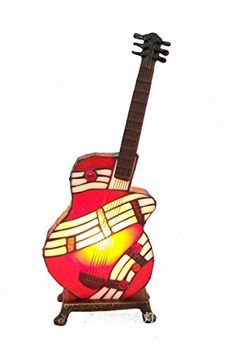WBLL E14 Tiffany Musik Tischlampe Kreative moderne Stil für Kinder Schlafzimmer Wohnzimmer Esszimmer Dekoration Gitarre Nachttischlampe Tiffany-lampe Musik