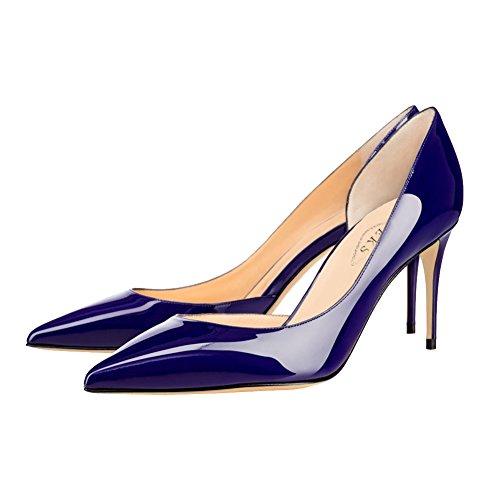 EKS, Scarpe col tacco donna Blau-Lackleder