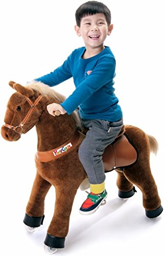 Cheval beiges sur roues Pony Cycle Medium