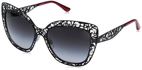 Dolce 26 Gabbana Dolce & Gabbana Women's Metal Woman Square Sunglasses, Black, 56 mm