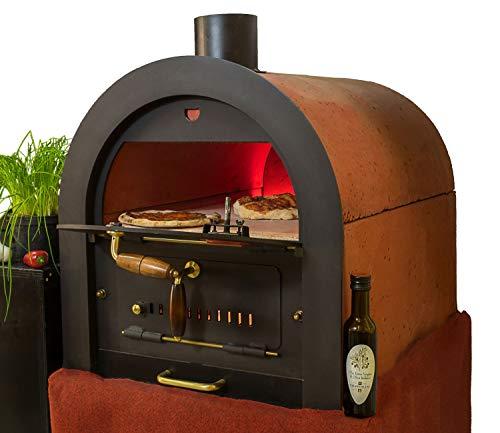 Steinbackofen Holzbackofen Pizzaofen Bausatz Valoriani mit indirekter Befeuerung
