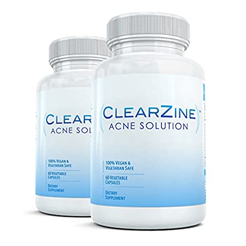 ClearZine (2 Bottles) - The Top Rated Acne Treatment Pill.