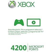 Tarjetas de 4.200 Microsoft Points.