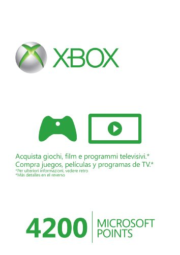 MICROSOFT XBOX 360 LIVE 4200 POINTS CARD 56P00216