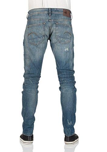 G-Star Herren Jeans 3301 Deconstructed - Slim Fit - Blau - Vintage Medium Aged Restored 120 Vintage Medium Aged Restored 120 (9261)