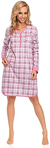 Cornette Damen Nachthemd 654 2015 (Rosa/Grau(Dreamy2), L)