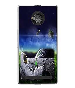 PrintVisa Designer Back Case Cover for YU Yuphoria :: YU Yuphoria YU5010 (Super Cool Mars)