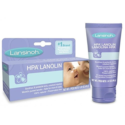 Lansinoh HPA Lanolin Nipple Cream for Breastfeeding Moms, 40 Grams