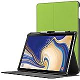 Forefront Cases Samsung Galaxy Tab S4 10.5 Hülle | Integrierter S-PEN Stifthalter & Stylusschutz | Magnetische Samsung Galaxy Tab S4 10.5 Zoll Tablet-PC SM-T830/T835 Cover | Automatische Schlaf-Wach-Funktion | Dünn Leicht | Grün + Stylus
