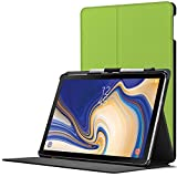 Forefront Cases Samsung Galaxy Tab S4 10.5 Hülle | S-Pen Stifthalter | Magnetische Galaxy Tab S4 10.5 Zoll Tablet-PC SM-T830/T835 Cover | Automatische Schlaf Wach Funktion Dünn Leicht | Grün + Stylus