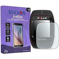 2x Mikvon AntiSun Película protección de pantalla Polar M400 / M430 Protector de Pantalla - Embalaje y accesorios