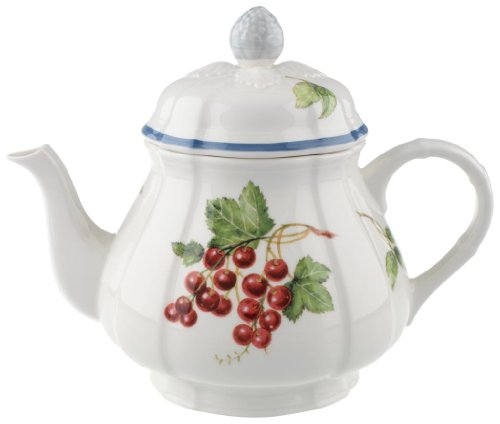 Villeroy & Boch 10-1115-0460 Cottage Kaffee-/Teekanne, 1 l, Premium Porzellan