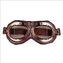 MOIMK Gafas De Moto Retro Vintage Gafas De Protección Gafas Piloto Gafas De Protección, Gafas
