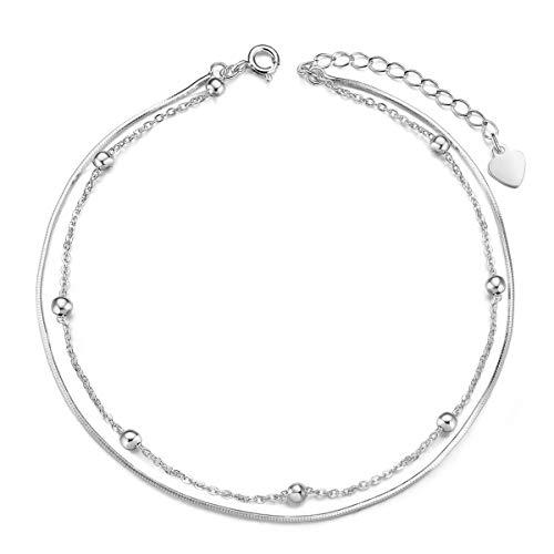 SHEGRACE Cavigliere da Donna Argento 925 Perline Tonde Regalo di Gioielli Regalo per Donna/Ragazza