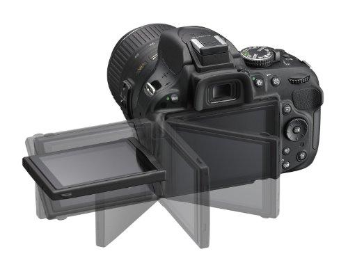 Nikon D5200 SLR-Digitalkamera (24,1 Megapixel, 7,6 cm (3 Zoll) TFT-Display, Full HD, HDMI) Kit inkl. AF-S DX 18-105 mm VR Objektiv schwarz - 3