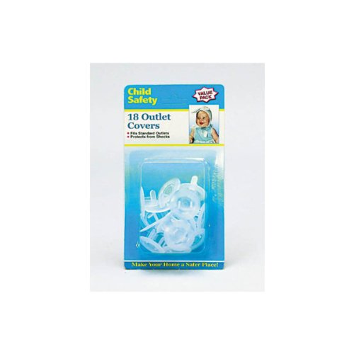 Child Safety Outlet Plugs - Child Proof - 18 Value Pack by Child Safety