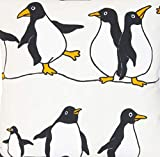 Textile London Pinguine Comical Happy Feet Digital Bedruckter Baumwollstoff Meterware