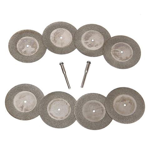 Diamant 50mm 8pcs Coupé Disque Roue Outil Rotatif avec Arbor