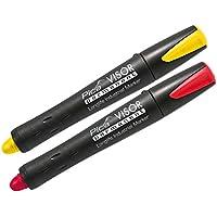 Pica 990rotulador permanente Visor Set, rojo, amarillo