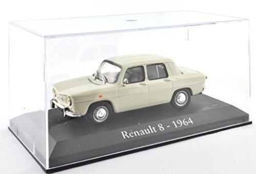 DieCast Metall Miniaturmodelle Modellauto 1:43 Oldtimer Klassiker Renault 8 Modell beige 1964 Altaya IXO inklusive Kunststoff Vitrine