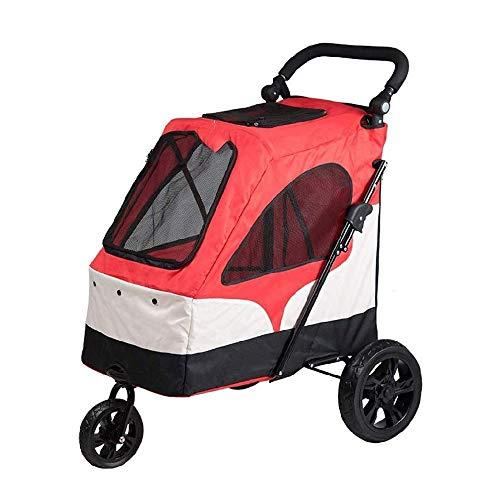 XCKJBCD Pet Travel Trolley, Pieghevole di Grande capacità, Tessuto di Oxford, Pneumatici Resistente, conveniente e Leggero