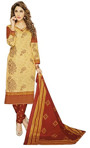 Shalibhadra beige color top with maroon color duppata and maroon color salwar...