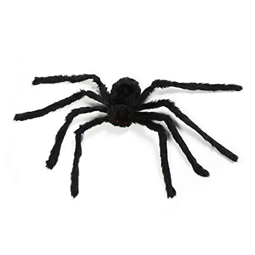 (Kongqiabona Halloween Props Fake Spider for Haunted House Bars Decorative Supply Simulation Scary Plush Spiders Tricky Toys)