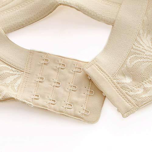 HYY-bra Deyllo Damen-BH, volle Abdeckung, Übergröße, Komfort, Minimizer, bügelfrei, Nicht gepolstert Gr. 105J, beige - 4