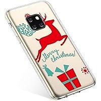 Uposao Handyhülle Huawei Mate 20 Pro Hülle Transparent Silikon Ultra Dünn Schutzhülle Durchsichtig Handyhülle Kristall Weiche Silikon TPU Handytasche Rückschale,Weihnachten Geschenk