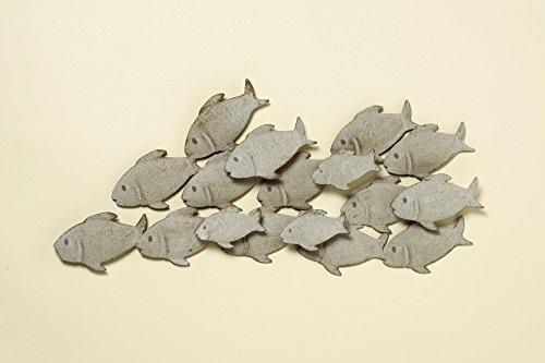 Boltze Wand Objekt Fisch Schwarm Gäste Zimmer Dekoration grau Eisen Bild Behang 2231200
