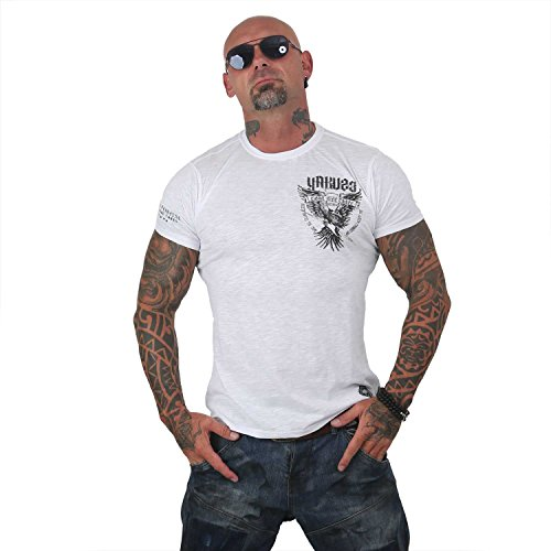 Yakuza Original Herren Eagle T-Shirt, Gr.-M, Weiß