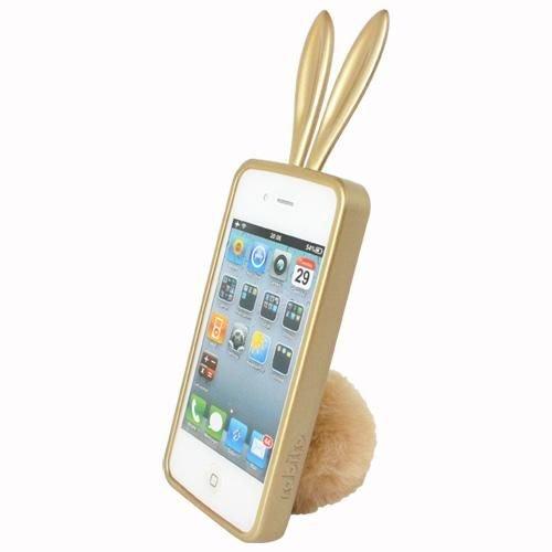 Rabito RB8000S Bling Bling Coque Housse Etui pour Smartphone Téléphone portable Apple iPhone 4/4S Argent Or