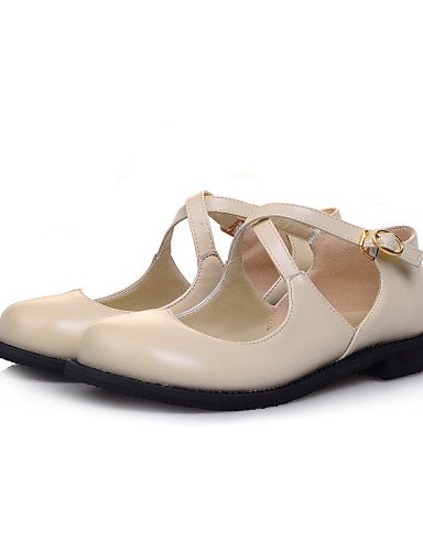 ZQ Damenschuhe - Ballerinas - B¨¹ro / Kleid / L?ssig - Kunstleder - Niedriger Absatz - Rundeschuh / Geschlossene Zehe -Schwarz / Braun / beige-us6.5-7 / eu37 / uk4.5-5 / cn37