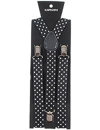 Adjustable Unisex Adult Child Elastic Clip-on Brace Suspender Y back Neon Belt