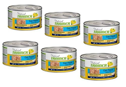 Trainer Natural Dog Adult Small e Toy con Pesce e Yucca schidigera da 150 GR. 6 scatolette per Cani