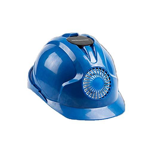 Casco di Sicurezza per Ventilatore Solare, Casco per Muratore Leggero e Traspirante, Regolazione del Vento 3, dissipazione del Calore, Protezione Solare Blue