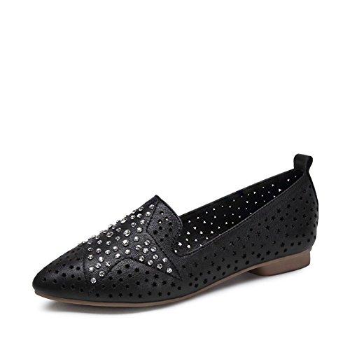 Les chaussures de femmes légères/ chaussures plates pointues/Met le pied chaussures A