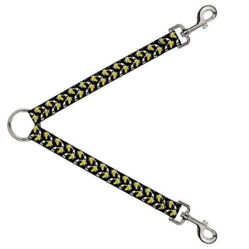 Buckle Down dls-w32834Banana geschälte W/Sonnenbrille Schwarz/Gelb Leine Splitter, 2,5cm breit-76,2cm Länge