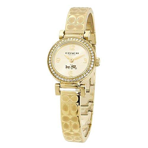 Coach Signiture Damen-Armbanduhr 26mm Gold Gehäuse Batterie - Gold Uhren Frauen Coach