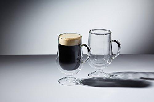 KitchenCraft Le'Xpress Isolierte doppelwandige Espresso-Tassen, 80ml (2Stück), glas, farblos, 7 x 7 x 14.5 cm