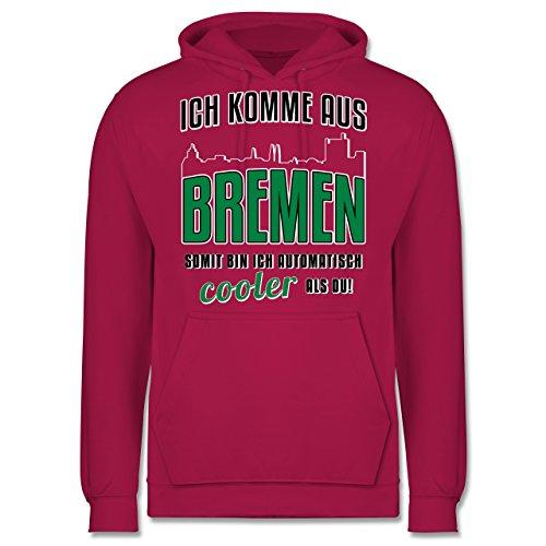 Städte - Ich komme aus Bremen - Männer Premium Kapuzenpullover / Hoodie Fuchsia