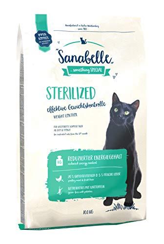 Sanabelle Sterilized | Katzentrockenfutter mit vermindertem Energiegehalt für übergewichtige & kastrierte Katzen, 1er Pack (1 x 10000 g)